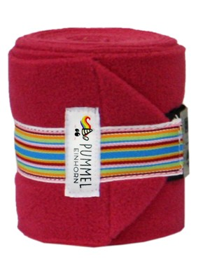 Equest Bandagen ALPHA FLEECE PUMMEL -STRIPE- viola red