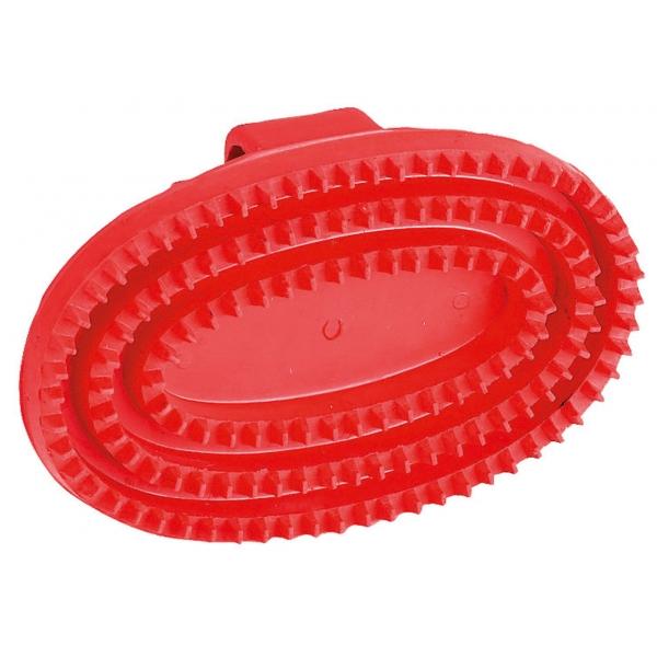 Kerbl Gummistriegel oval, Hartgummi